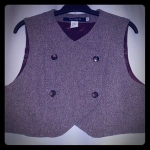 French Connection Brown Cropped Vest